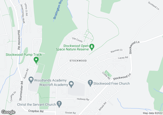 Map for Stockwood Road, Stockwood, Bristol