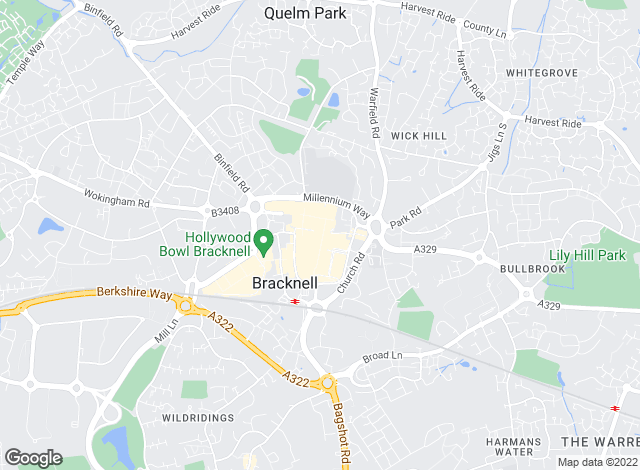 Map for Sears Property, Bracknell