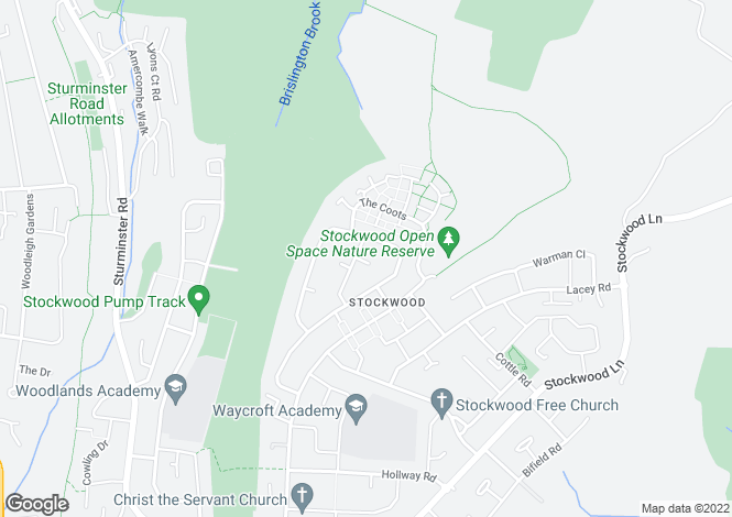 Map for Atkins Close, Stockwood