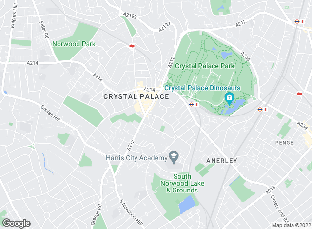 Map for Martin & Co, Crystal Palace - Lettings & Sales