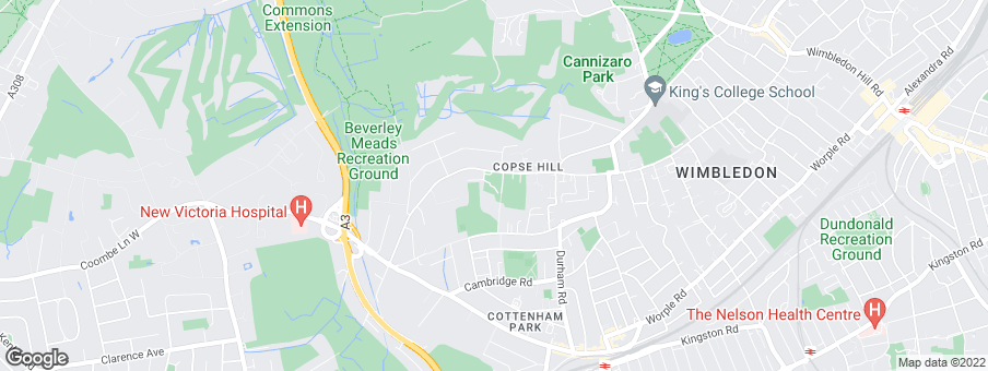 Map for Wimbledon Hill Park development by Berkeley Homes Urban Renaissance