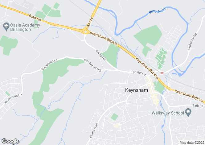 Map for Stockwood Vale, Keynsham