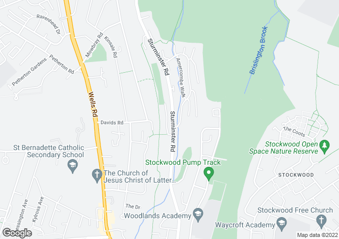 Map for Sturminster Road, Stockwood