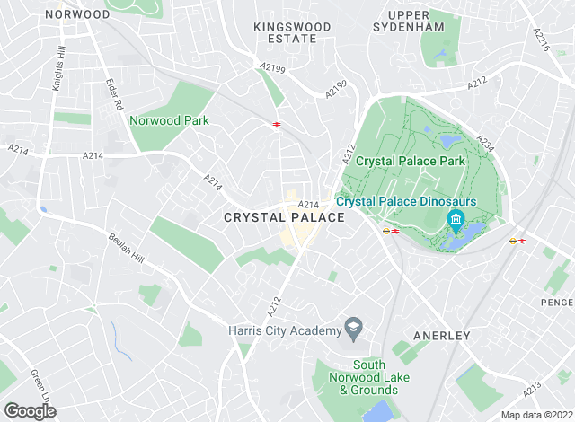 Map for YOUR MOVE, Crystal Palace