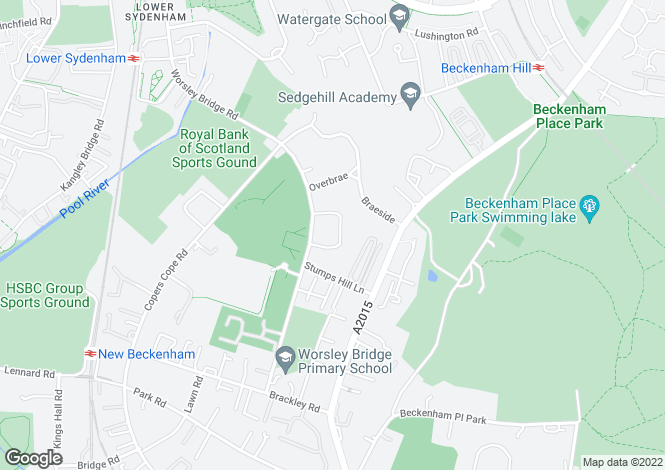 Map for Hackington Crescent, Beckenham