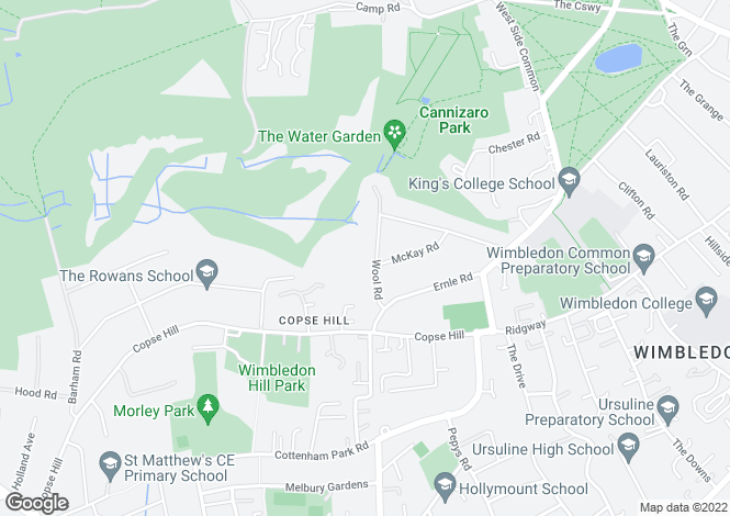 Map for Wool Road, Wimbledon, London, SW20 0HN