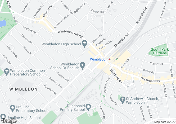 Map for Wimbledon Central, Wimbledon
