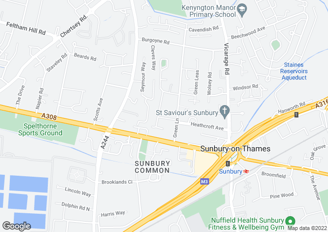 Map for Dale Road, Sunbury-on-thames, Middlesex, TW16