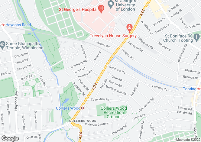 Map for High Street Colliers Wood, SW19 2AB
