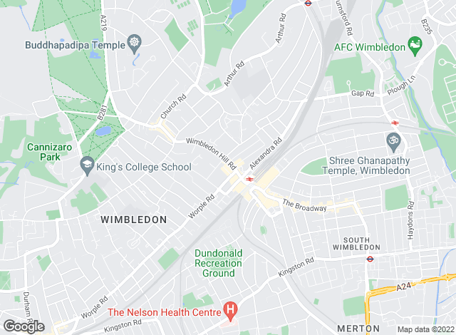 Map for Lauristons, Wimbledon Hill