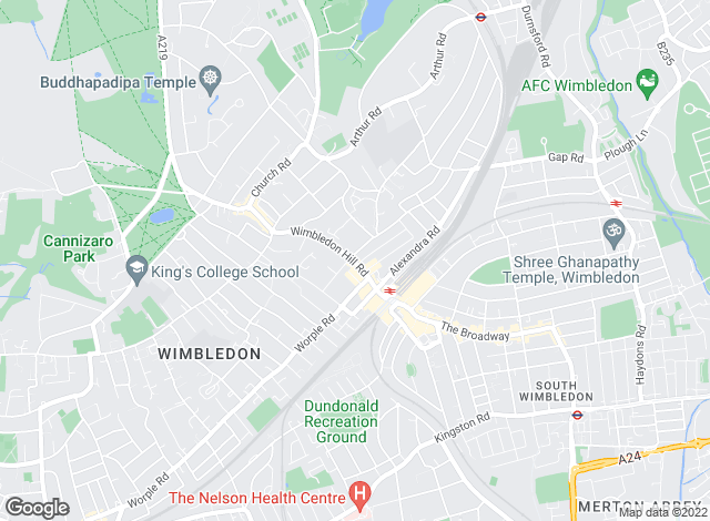 Map for Jacksons Estate Agents, Wimbledon