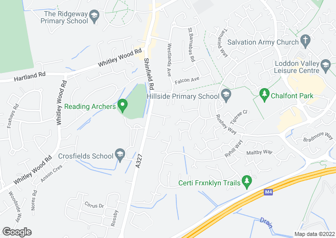 Map for Oakside Way, Shinfield, Reading, Berkshire, RG2 9BJ