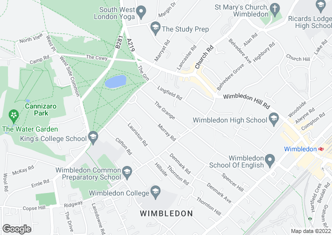 Map for The Grange, Wimbledon Village, SW19