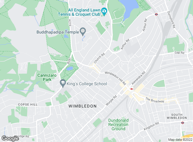 Map for Andrew Scott Robertson , Wimbledon Village