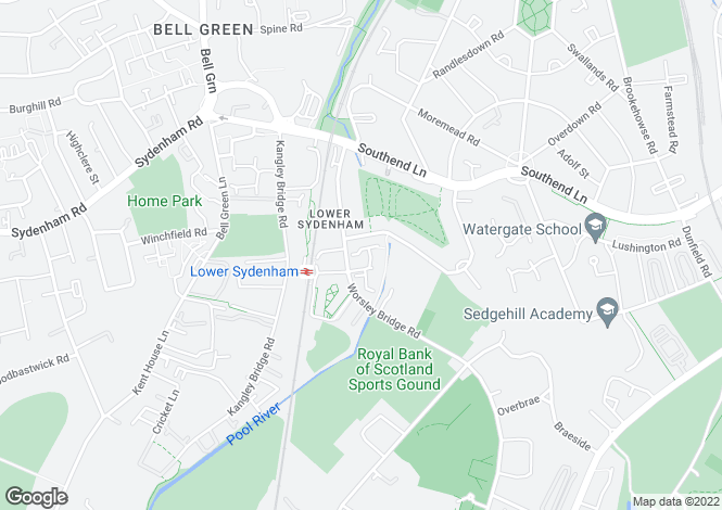Map for Sydenham, London