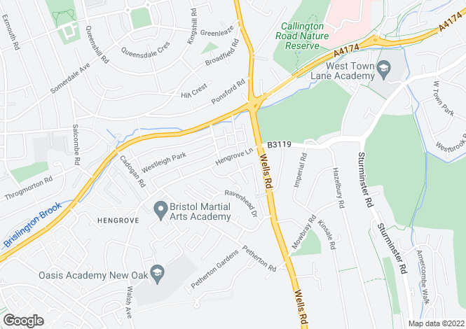 Map for Hengrove Lane, Hengrove