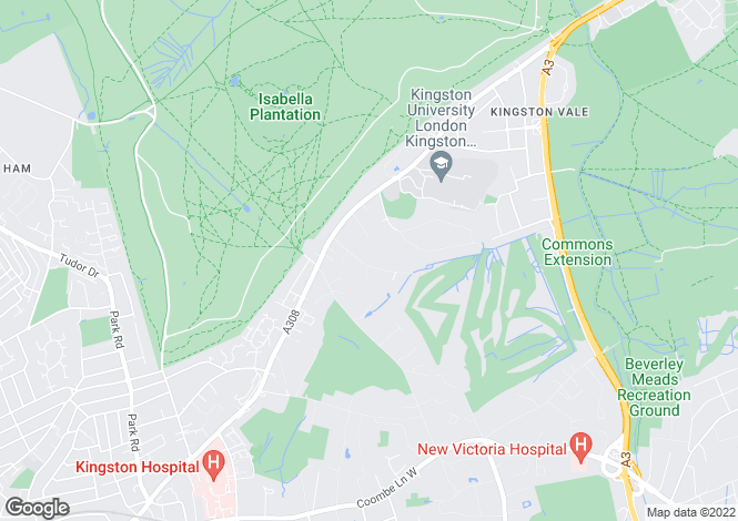 Map for Coombe Ridings, Kingston Upon Thames, Surrey, KT2