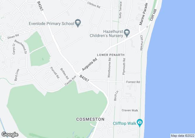 Map for 41, Augusta Crescent, Penarth