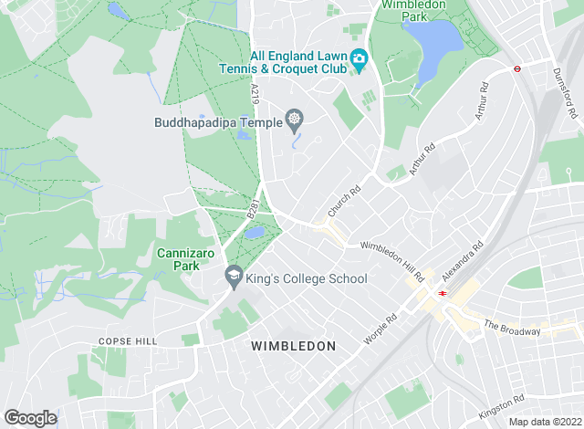 Map for Hamptons International Lettings, Wimbledon - Lettings