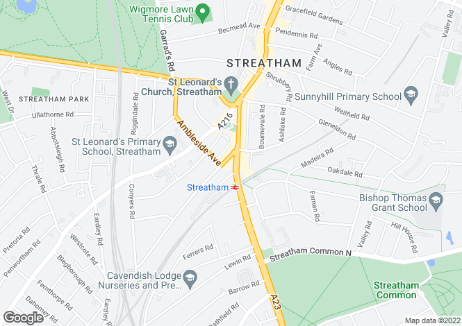 Map for Streatham High Road,