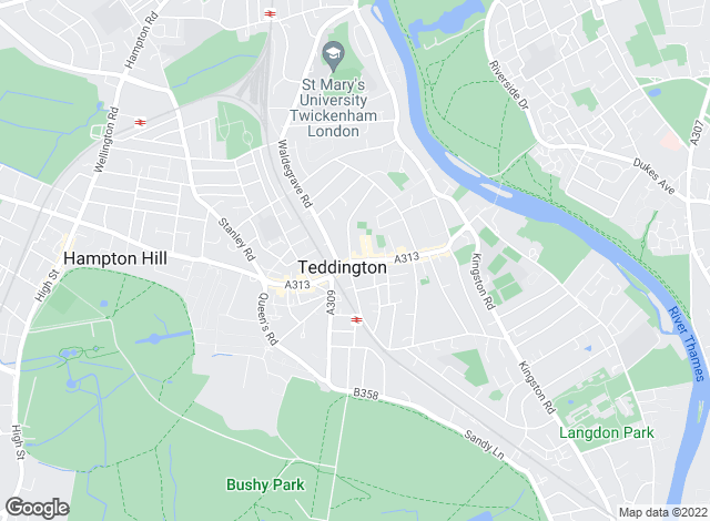 Map for Curchods Estate Agents, Teddington