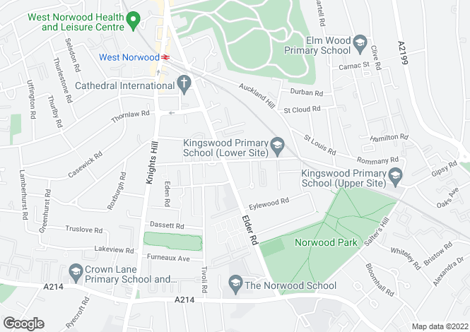 Map for Gipsy Road, West Norwood, London, SE27