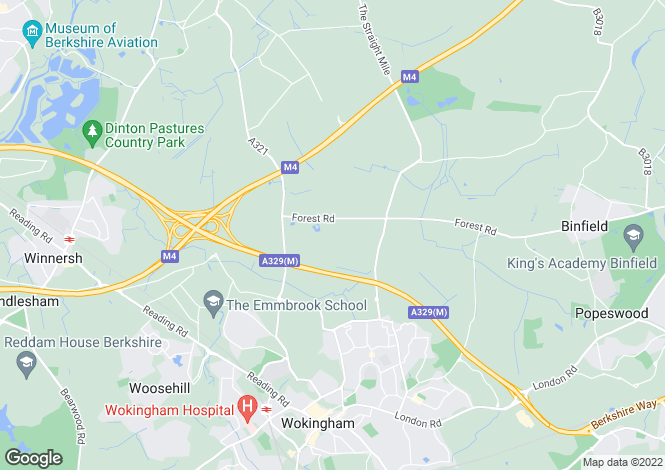 Map for Forest Road, Wokingham, RG40