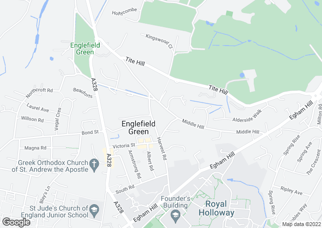 Map for Englefield Green