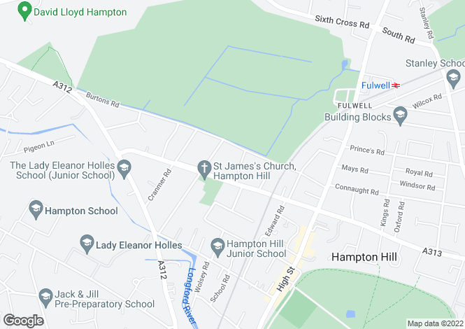 Map for Sherwood Road, Hampton Hill