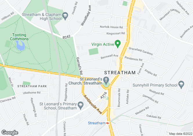 Map for Prentis Road   Streatham Hill London