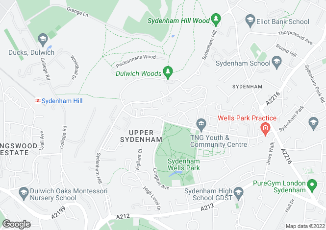 Map for Greyfriars, Sydenham