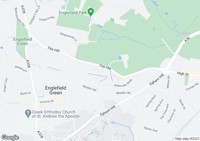 Map for Baronswood, Tite Hill, Englefield Green, Egham