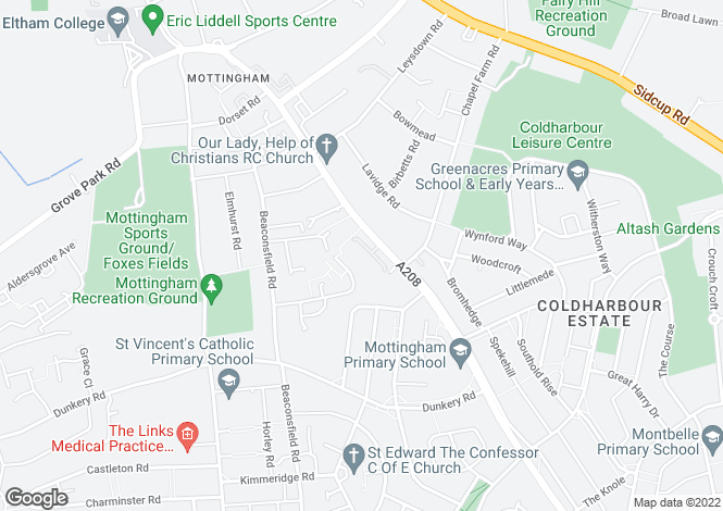 Map for Geffery Court, 158 Mottingham Road, LONDON
