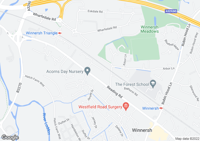 Map for Turnstone Close, Winnersh, Wokingham