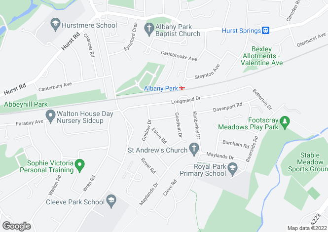 Map for Cherrydown Road, Sidcup, DA14 4PF
