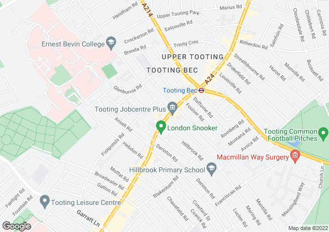 Map for Upper Tooting Road, SW17 7PB