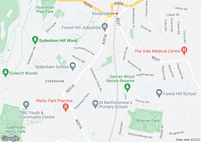 Map for Longfield Crescent SE26