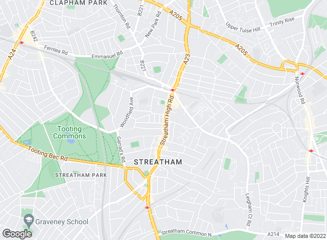 Map for Foxtons, Streatham