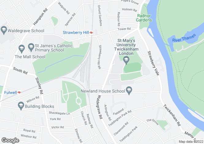 Map for Strawberry Hill Road, Strawberry Hill, Twickenham