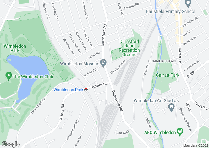 Map for Durnsford RoadWimbledon Park