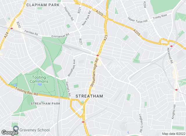 Map for Jacksons Estate Agents, Streatham