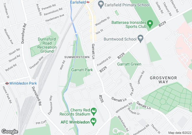 Map for 647B Garratt Lane, Earlsfield