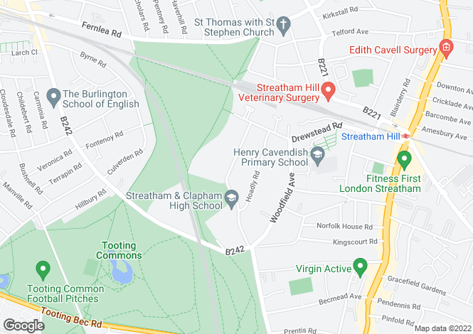 Map for Abbotswood Road, Streatham Hill, SW16