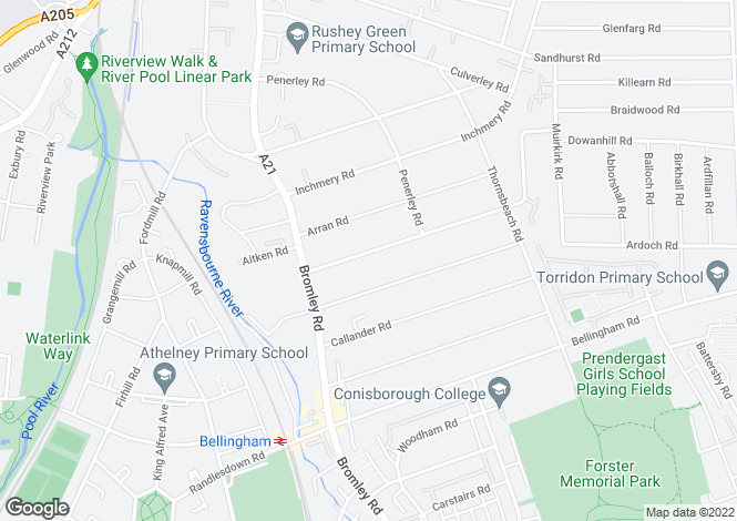 Map for Newquay Road, Catford, SE6