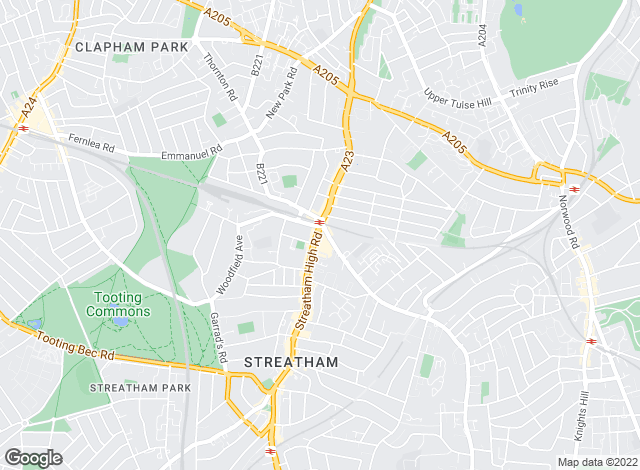 Map for Townends, Streatham - Lettings