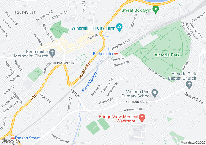 Map for Cotswold Road North, Windmill Hill, BRISTOL