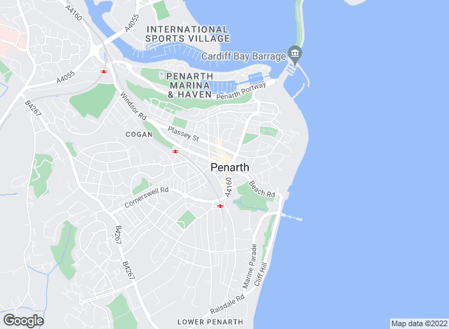Map for Peter Alan, Penarth