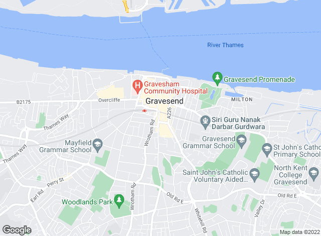 Map for Ward & Partners, Gravesend