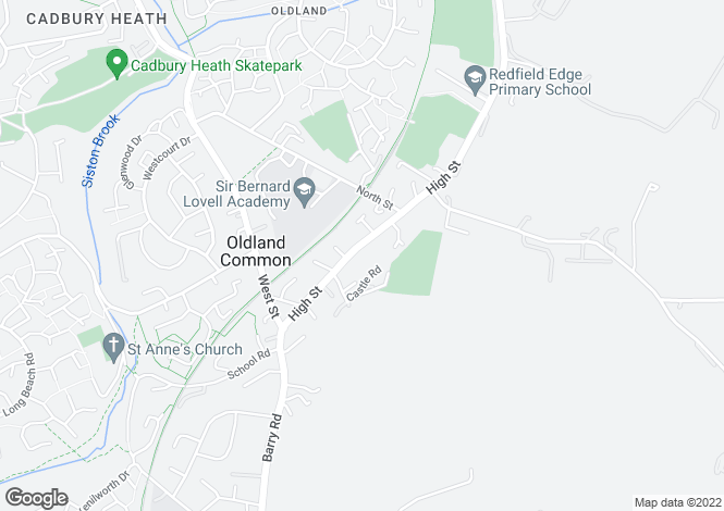 Map for High Street, Oldland Common