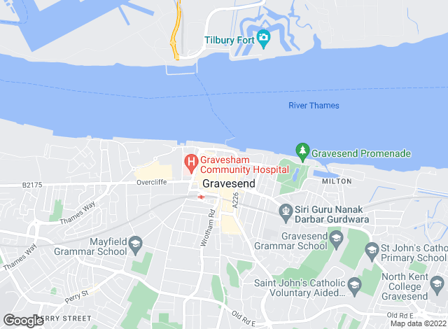 Map for Richmond Chase, Gravesend